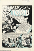 "Original Comic Art:Complete Story, George Roussos - Original Art for Crime Patrol #16, Complete 7-pageStory ""Trapped in the Tomb"" (EC, 1950). This early EC ho..."