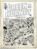 Original Comic Art:Covers, Alex Schomburg - Original Cover Art for Green Hornet #21 (Harvey,1944). America's favorite World War II cover artist does i...