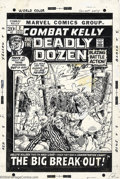 Original Comic Art:Covers, John Severin - Original Cover Art for Combat Kelly and the DeadlyDozen #2 (Marvel, 1972). A highly underrated artist, John ...