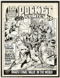 Original Comic Art:Covers, Joe Simon (attributed) - Original Cover Art for Pocket Comics #4 (Harvey, 1942). This cover to the fourth issue of Pocket ...