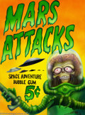 "Original Comic Art:Sketches, Smith - Original Illustration, ""Mars Attacks"" (1996). A vibrant, airbrushed illustration, featuring a Martian invader, by Sm..."