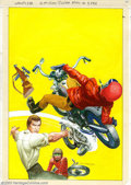 Original Comic Art:Covers, Jack Sparling - Original Cover Art for The Six Million Dollar Man#5 (Charlton, 1976). This dynamic watercolor illustration ...