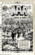 Original Comic Art:Covers, Tom Sutton (Attributed) - Original Cover Art for War Then and Now#1 (Charlton, 1974). This striking cover portrays the men ...