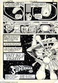 Original Comic Art:Splash Pages, Curt Swan and Dave Hunt - Original Art for Superman #390, pages 2and 3 (DC, 1983). An alien spaceship encounters a comet --...