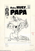 Original Comic Art:Covers, Martin Taras - Original Cover Art for Baby Huey and Papa #1(Harvey, 1962). Baby Huey fans should love this great cover of o...