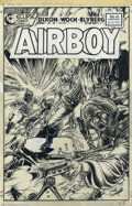 Original Comic Art:Covers, Stan Woch - Original Cover Art for Airboy # 41 (Eclipse, 1981).Airboy leads an assault in Afghanistan in this explosive cov...