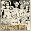 Original Comic Art:Sketches, Wally Wood - Original Art for Miracles, Inc. House Ad (Harvey, 1966). A rare portrait of a short-lived group, Miracles, In...