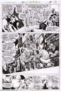 Original Comic Art:Panel Pages, Berni Wrightson - Original Art for Swamp Thing #6, Page 9 (DC,1973). Berni Wrightson first entered the world of comics as a...