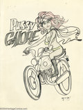 "Original Comic Art:Splash Pages, Stanley Mouse - Original Art Pin Up ""Pussy Galore"" (No Publisher, 1965). Underground poster artist, and chief illustrator fo..."