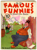 Platinum Age (1897-1937):Miscellaneous, Famous Funnies #24 (Eastern Color, 1936) Condition: FN....