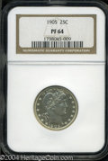 Proof Barber Quarters: , 1905 PR 64 NGC. ...