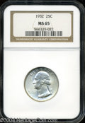 Washington Quarters: , 1932 MS65 NGC. ...