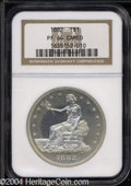 Proof Trade Dollars: , 1882 PR 64 Cameo NGC. ...