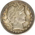 Barber Quarters, 1904-O 25C MS66 PCGS....