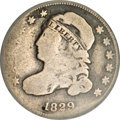 Bust Dimes, 1829 10C Curl Base 2, Small 10C--Bent, Improperly Cleaned, NCS.Good Details....