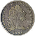 Early Half Dimes, 1794 H10C --Obverse Repaired--NCS. XF Details....