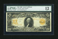 Large Size:Gold Certificates, Fr. 1186 $20 1906 Gold Certificate PMG Fine 12....