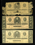 Confederate Notes:1864 Issues, T71 $1 1864.. ... (Total: 3 notes)