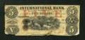 Canadian Currency: , Toronto, ON- International Bank $5 Sep. 15, 1858 Charlton380-10-10-16a. ...