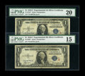 Small Size:Silver Certificates, An Experimental Star Pair.. ... (Total: 2 notes)