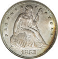 Seated Dollars, 1853 $1 MS62 PCGS....