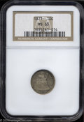Seated Dimes: , 1871 10C MS65 NGC. The bright, satiny surfaces are ...