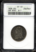 Bust Quarters: , 1838 25C XF40 ANACS. B-1, R.1. The only dies for this ...