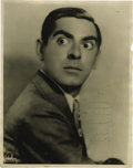 "Movie/TV Memorabilia:Autographs and Signed Items, Eddie Cantor Signed Photo. A b&w 11"" x 14"" photo of Cantorinscribed and signed by him in green ink. In Fine to Very Fineco..."
