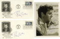 """Movie/TV Memorabilia:Autographs and Signed Items, Tony Curtis Signed Photo and Envelopes. Includes a b&w 5"""" x 7"""" photo inscribed and signed by Curtis in blue ballpoint, plus ..."""