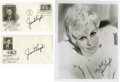 "Movie/TV Memorabilia:Autographs and Signed Items, Janet Leigh Signed Photo and Envelopes. Includes a b&w 8"" x 10""photo inscribed and signed by Leigh in black fountain pen, p..."