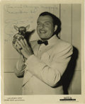 "Music Memorabilia:Autographs and Signed Items, Xavier Cugat Signed Photo. A b&w 8"" x 10"" promo photo inscribedand signed by Cugat in black ink. In Very Fine condition wit..."