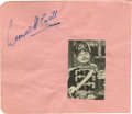 Movie/TV Memorabilia:Autographs and Signed Items, Lionel Atwill Autographed Album Page. Lionel Atwill, horrorsuperstar of such fare as Mystery of the Wax Museum andSo...