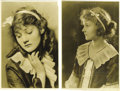 "Movie/TV Memorabilia:Photos, Helen Chandler Vintage Photos. A pair of vintage b&w 8.5"" x12.5"" portraits of a young Helen Chandler, who rose to fame in ..."