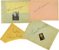 Movie/TV Memorabilia:Autographs and Signed Items, Legendary Directors' Autographs. Set of four autograph album pages signed by Samuel Goldwyn, Louis B. Mayer, Cecil B. deMill...