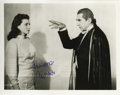 "Movie/TV Memorabilia:Autographs and Signed Items, Lenore Aubert Signed Photo. A b&w 8"" x 10"" still of LenoreAubert opposite Bela Lugosi in Abbott and Costello MeetFranke..."