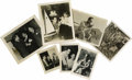 Movie/TV Memorabilia:Photos, Seven Photos of Humphrey Bogart with Lauren Bacall, Frank Sinatra,Edward G. Robinson, George Raft, et al. This fascinating ...(Total: 7 )