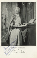 "Movie/TV Memorabilia:Autographs and Signed Items, Ernest Thesiger Signed Picture from The Robe. ""To a new world ofGods and Monsters!"" toasts Ernest Thesiger as Dr. Pretoriu..."