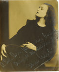 "Movie/TV Memorabilia:Autographs and Signed Items, Pola Negri Signed Photo. A b&w 11"" x 14"" photo inscribed andsigned by the silent-era femme fatale in white ink. In Fine con..."