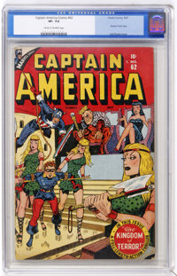 Captain America Comics #62 (Timely, 1947) CGC VF- 7.5 Cream to off-white pages