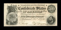 """T64 $500 1864 Cr-489, PF-1. This is a very pleasing example of the """"Stars and Bars"""" $500. The paper is perfect..."""