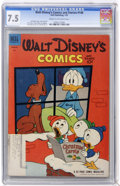 Golden Age (1938-1955):Cartoon Character, Walt Disney's Comics and Stories #148 (Dell, 1953) CGC VF- 7.5Cream to off-white pages....