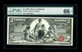 Large Size:Silver Certificates, Fr. 247 $2 1896 Silver Certificate PMG Gem Uncirculated 66 EPQ.This two dollar Educational certainly seems to have earned e...
