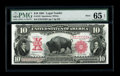 "Large Size:Legal Tender Notes, Fr. 122 $10 1901 Legal Tender Mule PMG Gem Uncirculated 65 EPQ. PMGhas added ""Great Embossing & Color"" to its ""Exceptional ..."
