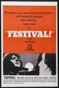 "Movie Posters:Documentary, Festival (Peppercorn-Wormser, 1967). One Sheet (27"" X 41""). Musical Documentary. Starring Joan Baez, Bob Dylan, Donovan, Jud..."