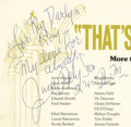 "Movie/TV Memorabilia:Autographs and Signed Items, June Allyson Signed ""That's Entertainment"" Program. A program from the world premiere of the 1974 MGM documentary, inscribed..."