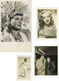 "Movie/TV Memorabilia:Autographs and Signed Items, Hollywood Blondes Signed Photos. Set of four vintage b&w photosincludes a 2.5"" x 4"" signed by Elizabeth Scott, a 3.5"" x 5"" ..."
