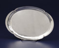 Silver Holloware, Continental:Holloware, A Danish Silver Tray. George Jensen Silversmithy, Copenhagen,Denmark. After 1945. Silver. Marks: GEORG JENSEN (within...