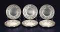 Silver Holloware, American:Plates, A Set of Twelve American Silver Dessert Plates. GorhamManufacturing Co., Providence, Rhode Island. 1929. Silver. Marks:... (Total: 12 )