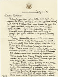 "Autographs:U.S. Presidents, Ronald Reagan, an important Autograph Letter Signed ""Ron"",one page on his personal letterhead, [Los Angeles], July 1, 1..."