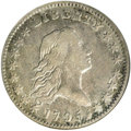 Early Half Dollars, 1795 50C A over E in STATES, 2 Leaves VF35 NGC....